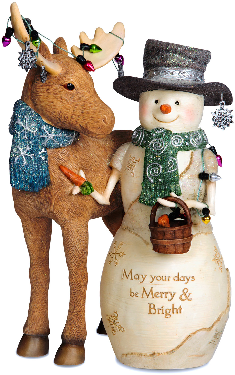 Merry & Bright by The Birchhearts - <em>Merry</em> - Christmas Snowman Figurine -