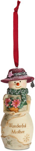 "Mother  by The Birchhearts - 4"" Snowwoman Ornament"