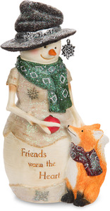 "Friends Warm the Heart by The Birchhearts - 6"" Snowman with Fox"