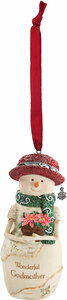 "Godmother by The Birchhearts - 4"" Snowman Ornament"