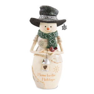 "Home by The Birchhearts - 7.5"" Snowman Holding Lantern"