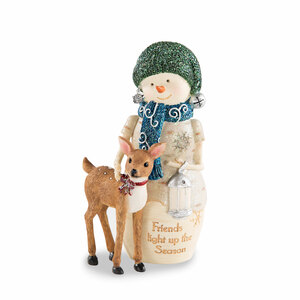 "Friends by The Birchhearts - 5"" Snowman with Deer"