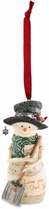 "Dad by The Birchhearts - 4"" Snowman Ornament"