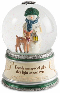 Friends by The Birchhearts - 100mm LED lit, Musical Water Globe