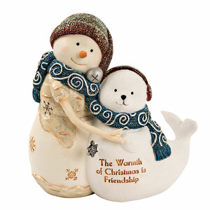 "Friendship by The Birchhearts - 4.5"" Snowman with Seal"