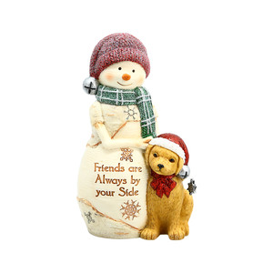 "Friends By Your Side by The Birchhearts - 5"" Snowman with Dog"