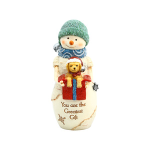 "Greatest Gift by The Birchhearts - 5"" Snowman with Puppy"
