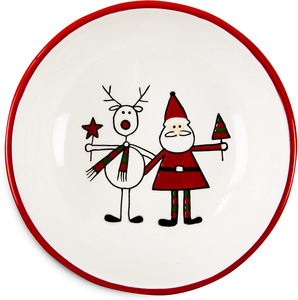 "Reindeer with Santa by Holiday Hoopla - 6.5"" Bowl"