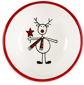 "Reindeer   by Holiday Hoopla - 4.75"" Bowl"