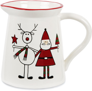 "Reindeer with Santa by Holiday Hoopla - 5.75"" Pitcher"