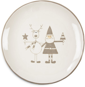 "Reindeer with Santa by Holiday Hoopla - 10.5"" Plate"