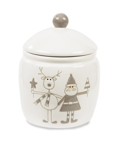 "Reindeer with Santa by Holiday Hoopla - 6"" Jar"