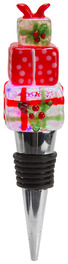 Presents by Holiday Hoopla - LED Lit Art Glass Wine Bottle Stopper