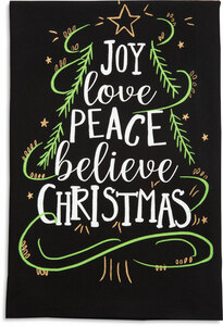 "Believe by Holiday Hoopla - 26.5""x27.25"" Tea Towel"