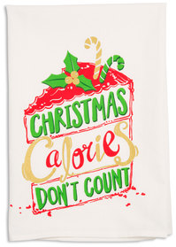 "Calories by Holiday Hoopla - 26.5""x27.25"" Tea Towel"