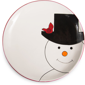 "Snowman by Holiday Hoopla - 10.5"" Plate"