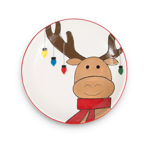 "Moose by Holiday Hoopla - 6.75"" Plate"