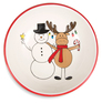 Snowman with Moose by Holiday Hoopla -