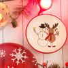 Snowman with Moose by Holiday Hoopla - Scene