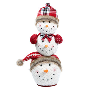 "Frosty Family by WarmHearts - 21"" Stacked Snowmen"