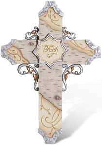 "Faith by Elements - 7.5"" Wall Cross"