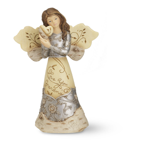 "Love You Grandma by Elements - 5.5"" Angel Holding Heart"
