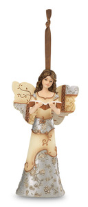 "Inspiration by Elements - 4.5"" Angel w/Book Ornament"