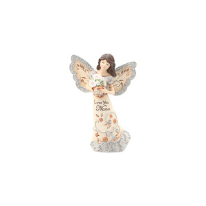 "Love You Nana by Elements - 5.5"" Angel Holding Flowers"