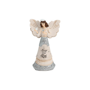 "Nurse by Elements - 6"" Angel holding Dove"