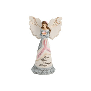 "Survivor by Elements - 6.5"" Angel Holding Butterfly"
