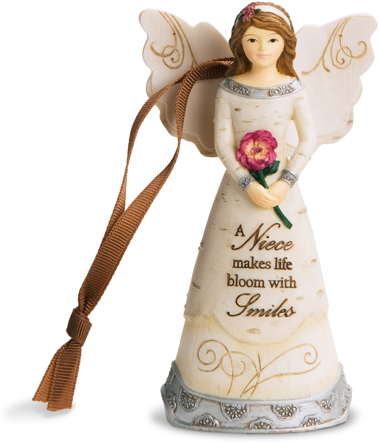 Niece by Elements - <em>Niece</em> - Angel Christmas Ornament, 4.75 in -