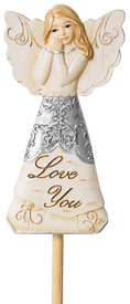 "Love You by Elements - 3"" Angel Floral Pick"