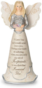 "Footprints by Elements - 7.5"" Angel Holding Seashells"