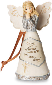 "Nurse by Elements - 4.75"" Angel Ornament"