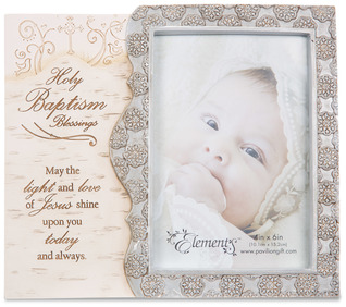 "Holy Baptism by Elements - 8""x7"" Frame with 4""x6"" Photo Opening"