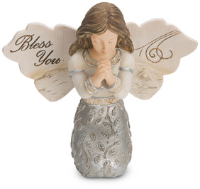 "Bless You Girl by Elements - 3.5"" Girl Angel Praying"