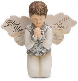"Bless You Boy by Elements - 3.5"" Boy Angel Praying"
