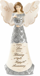 "25th Anniversary by Elements - 6"" Angel Figurine"