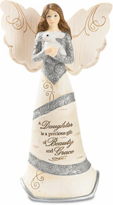"Daughter by Elements - 6"" Angel Holding Bunny"