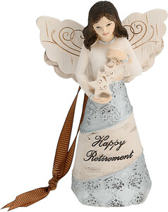 "Retirement by Elements - 4.5"" Angel Ornament"