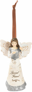 "Special Friend by Elements - 4.5"" Angel Ornament"