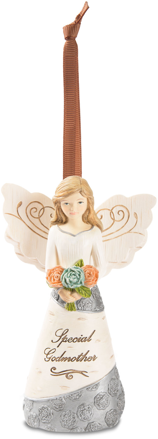 "Godmother by Elements - Godmother - 4.5"" Angel Ornament"