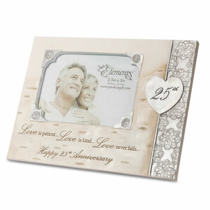 "25th Anniversary by Elements - 8"" x 6"" Frame (Holds 3.5"" x 5"" Photo)"