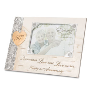 "50th Anniversary by Elements - 8"" x 6"" Frame (Holds 3.5"" x 5"" Photo)"