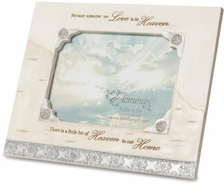 "Heaven in our Home by Elements - 7.25"" x 6"" Frame (Holds 3.5"" x 5"" Photo)"
