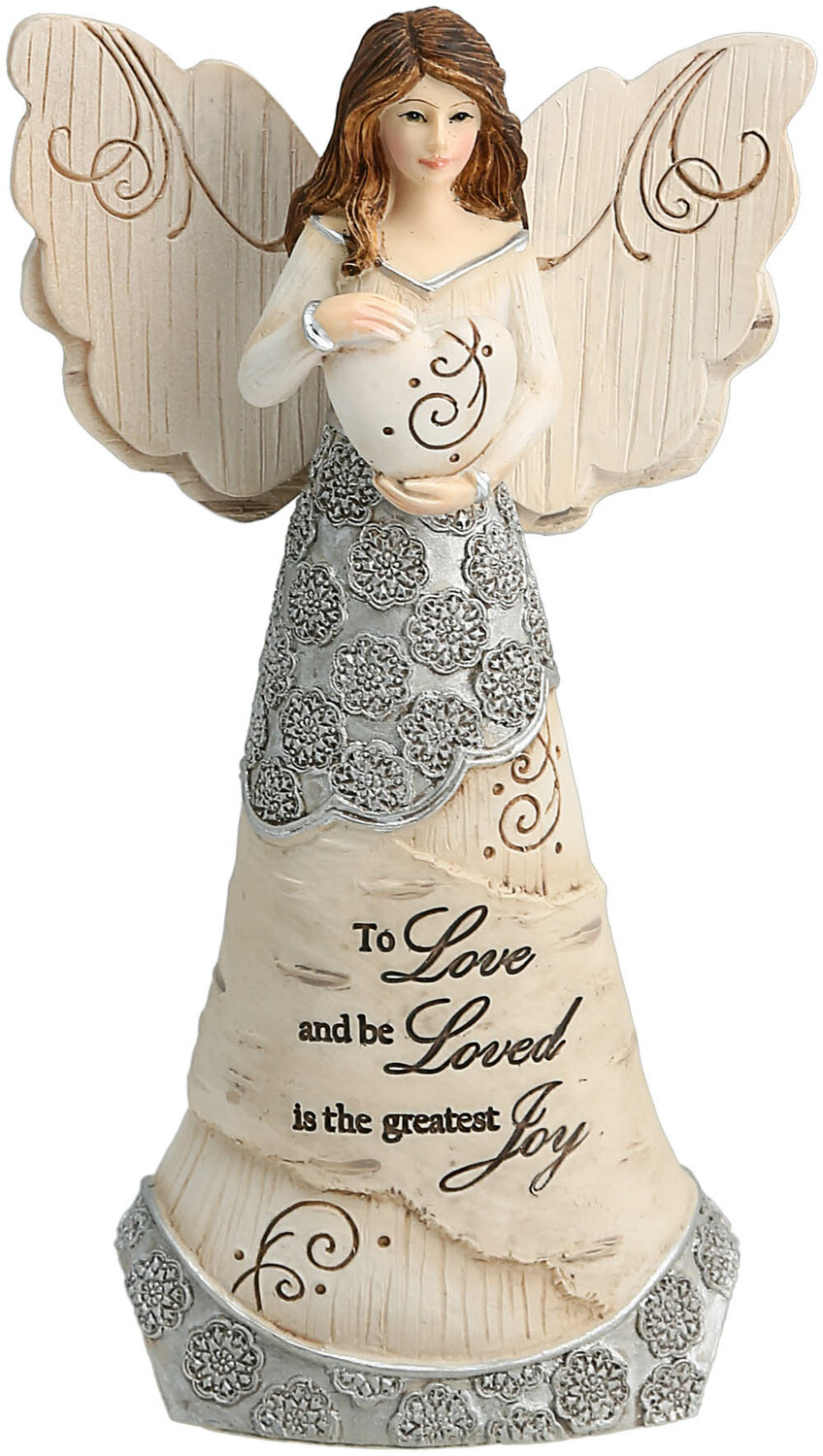 "To Love by Elements - To Love - 6"" Angel Holding Heart"