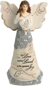 "To Love by Elements - 6"" Angel Holding Heart"