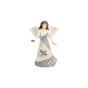 "Cherish Today by Elements - 5.5"" Angel Holding Butterflies"