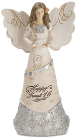 "Sweet 16 by Elements - 6"" Angel Holding Cake"