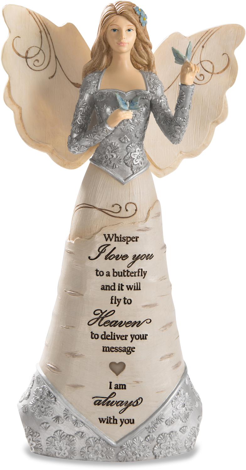 "Butterfly by Elements - Butterfly - 9"" Angel Holding Butterfly"